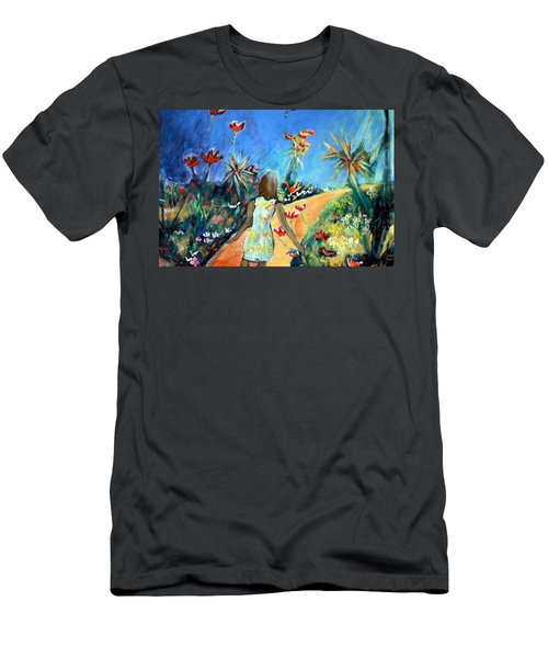 In The Garden Of Joy Men's T-Shirt (Slim Fit) by Winsome Gunning
