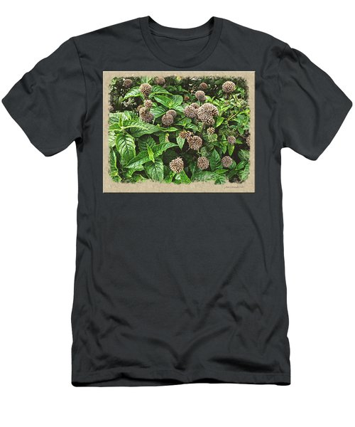 Men's T-Shirt (Slim Fit) featuring the photograph In The Highline Garden by Joan  Minchak