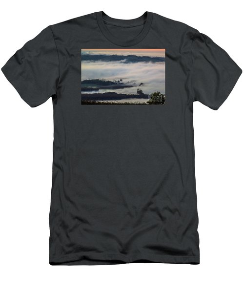 In The Mist 2 Men's T-Shirt (Slim Fit) by Jean Bernard Roussilhe