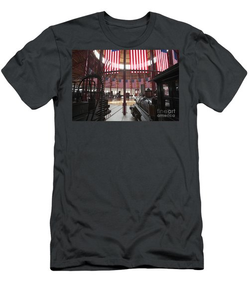 In The Roundhouse At The B And O Railroad Museum In Baltimore Men's T-Shirt (Athletic Fit)