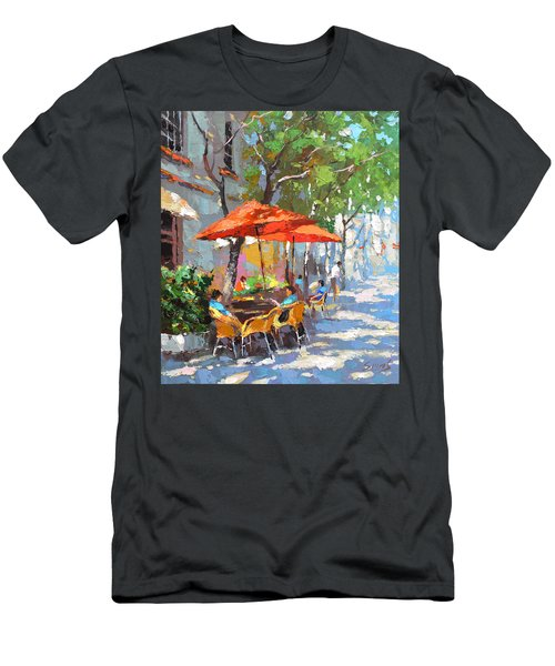 In The Shadow Of Cafe Men's T-Shirt (Slim Fit)