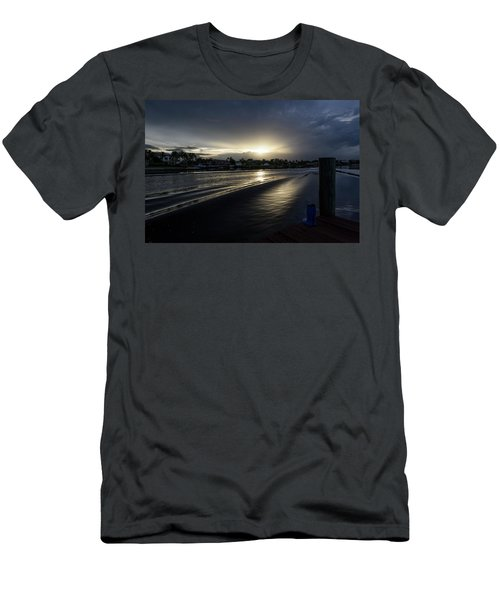 Men's T-Shirt (Athletic Fit) featuring the photograph In The Wake Zone by Laura Fasulo