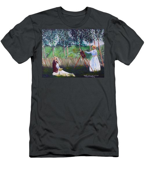 In The Woods At Giverny Men's T-Shirt (Slim Fit) by Luis F Rodriguez