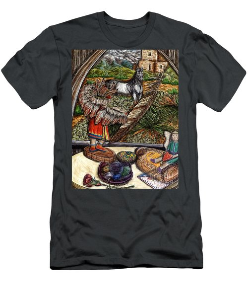 In Times Of Need Men's T-Shirt (Slim Fit) by Kim Jones