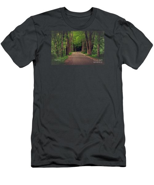 In To The   Deep Dark Woods  Men's T-Shirt (Slim Fit) by MaryLee Parker