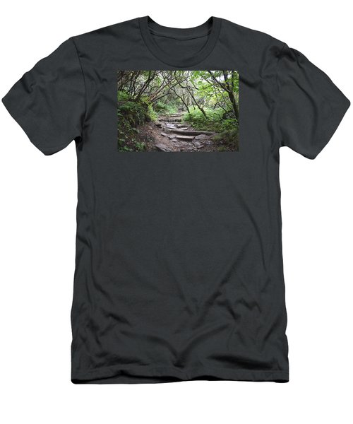 The Enchanted Forest Path Men's T-Shirt (Slim Fit) by Gary Smith