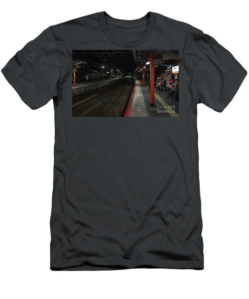 Inari Station, Kyoto Japan Men's T-Shirt (Athletic Fit)