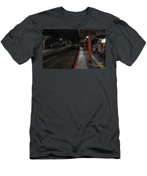 Inari Station, Kyoto Japan Men's T-Shirt (Athletic Fit)