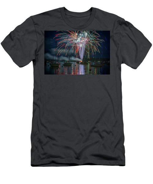 Men's T-Shirt (Athletic Fit) featuring the photograph Independence Day In Maine by Rick Berk