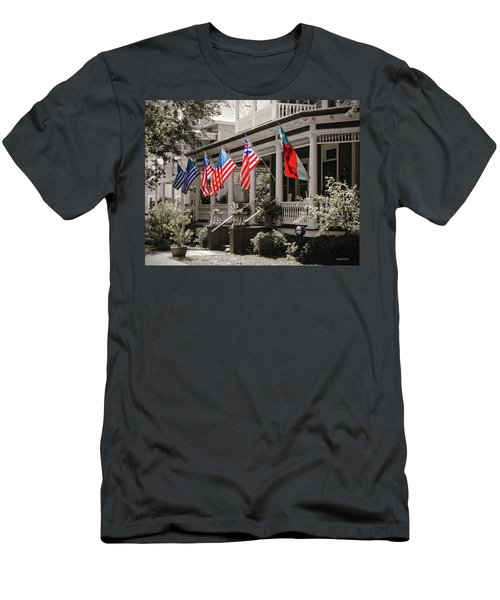 Independence Day Southport Style Men's T-Shirt (Slim Fit) by Phil Mancuso