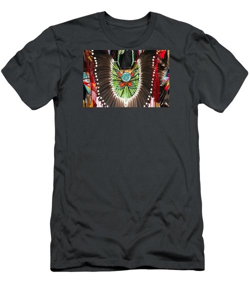 Men's T-Shirt (Athletic Fit) featuring the photograph Indian Decorative Feathers by Todd Klassy