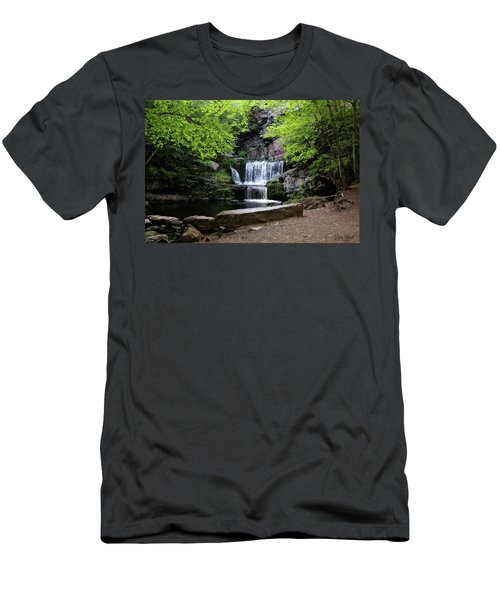 Indian Ladder Falls Men's T-Shirt (Athletic Fit)