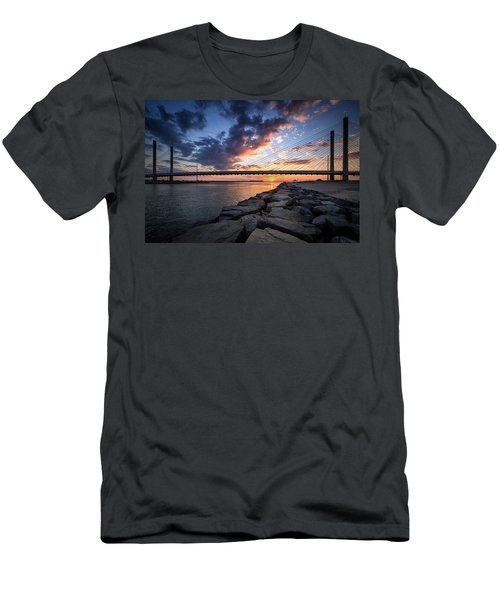Indian River Inlet And Bay Sunset Men's T-Shirt (Athletic Fit)
