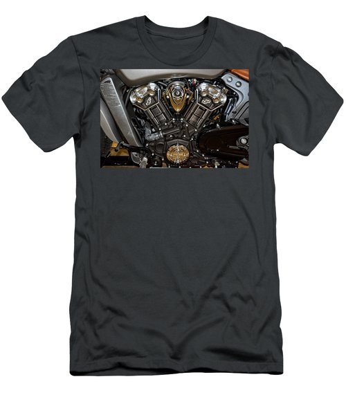 Indian Scout Engine Men's T-Shirt (Athletic Fit)