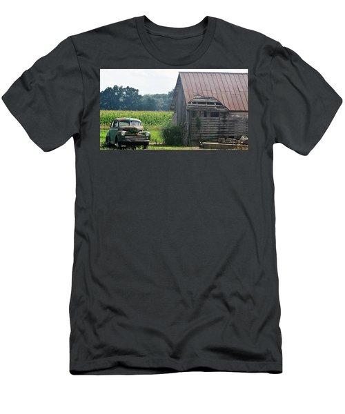 Indiana Back Road Common Denominator Men's T-Shirt (Slim Fit) by John Glass