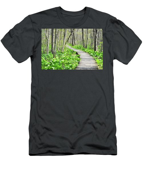 Indiana Dunes Great Green Marsh Boardwalk Men's T-Shirt (Athletic Fit)