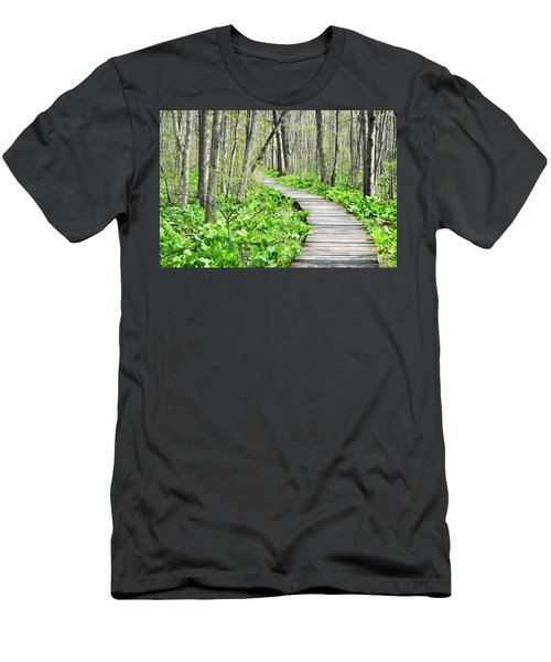 Indiana Dunes Great Green Marsh Boardwalk Men's T-Shirt (Athletic Fit)