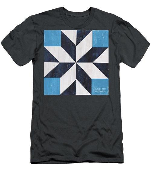 Indigo And Blue Quilt Men's T-Shirt (Athletic Fit)