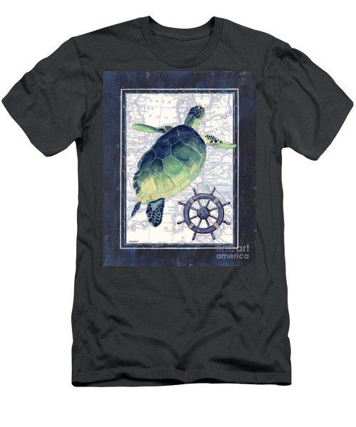 Indigo Maritime 1 Men's T-Shirt (Athletic Fit)