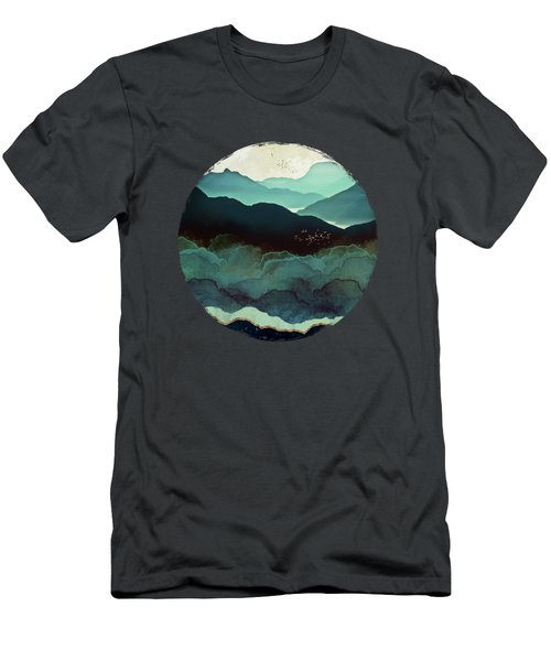 Indigo Mountains Men's T-Shirt (Athletic Fit)