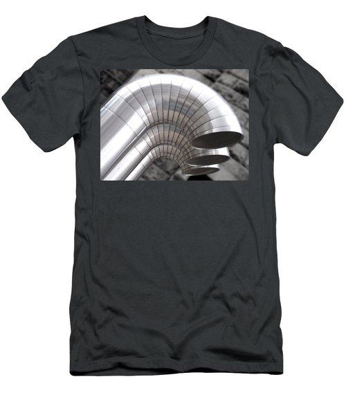 Industrial Air Ducts Men's T-Shirt (Slim Fit) by Henri Irizarri