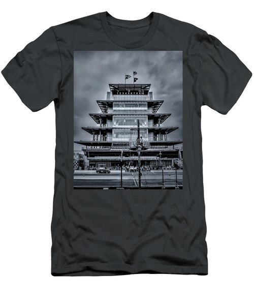 Indy 500 Pagoda - Black And White Men's T-Shirt (Athletic Fit)