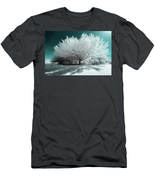 Men's T-Shirt (Athletic Fit) featuring the photograph Infrared Tree Blue by Brian Hale