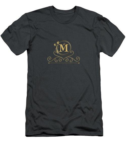 Initial M Men's T-Shirt (Athletic Fit)