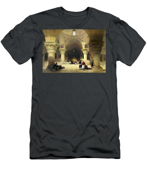 Inside The Church Of The Holy Sepulchre In Jerusalem Men's T-Shirt (Athletic Fit)