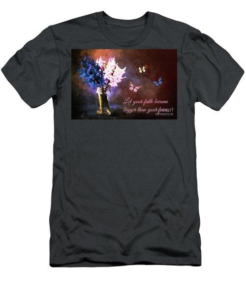 Inspirational Flower Art Men's T-Shirt (Athletic Fit)