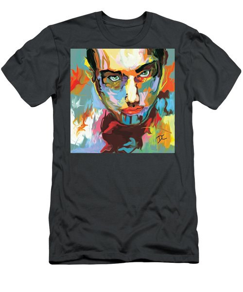Men's T-Shirt (Athletic Fit) featuring the digital art Intense Face 2 by Darren Cannell