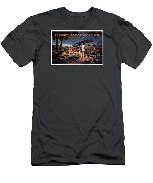 Inter Island Airways-honolulu Hawaii Men's T-Shirt (Slim Fit) by Nostalgic Prints