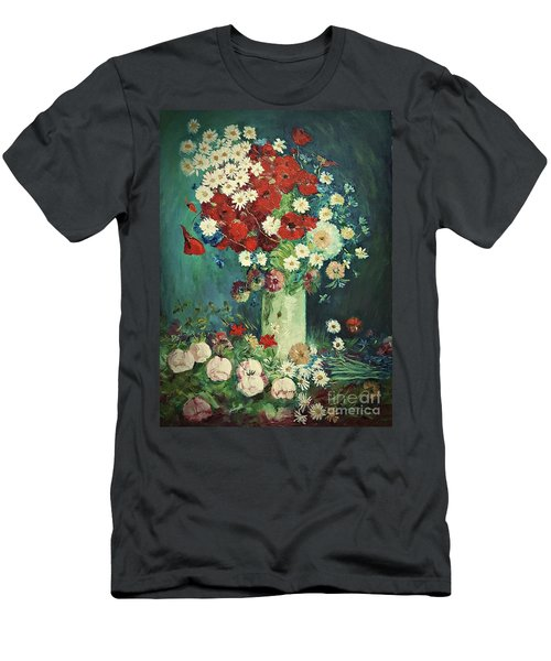 Interpretation Of Van Gogh Still Life With Meadow Flowers And Roses Men's T-Shirt (Athletic Fit)