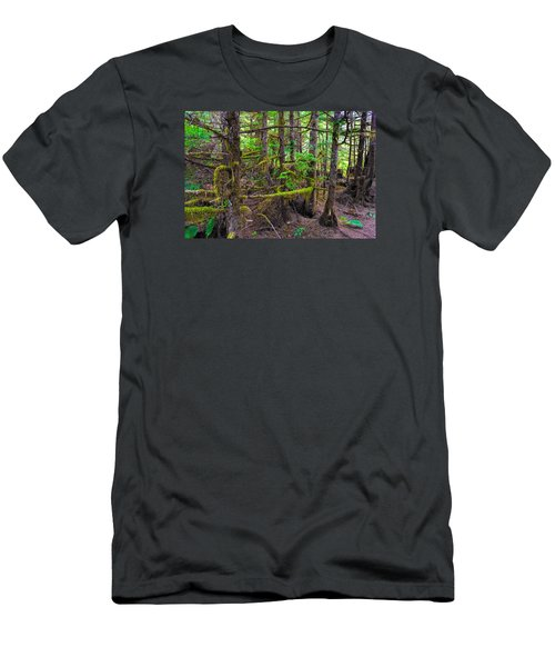 Into The Forest Men's T-Shirt (Slim Fit) by Lewis Mann