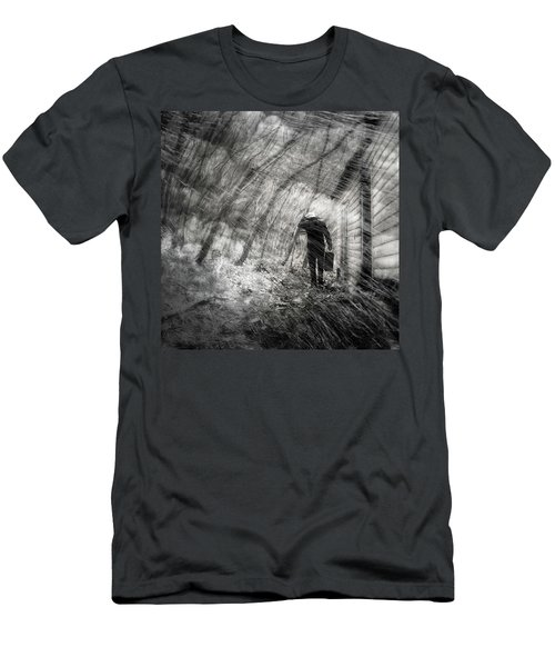 Men's T-Shirt (Slim Fit) featuring the photograph Into The Storm by Gray  Artus