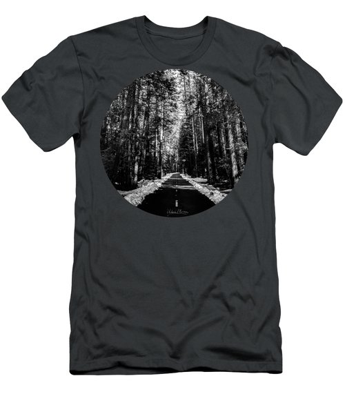 Into The Woods, Black And White Men's T-Shirt (Slim Fit) by Adam Morsa