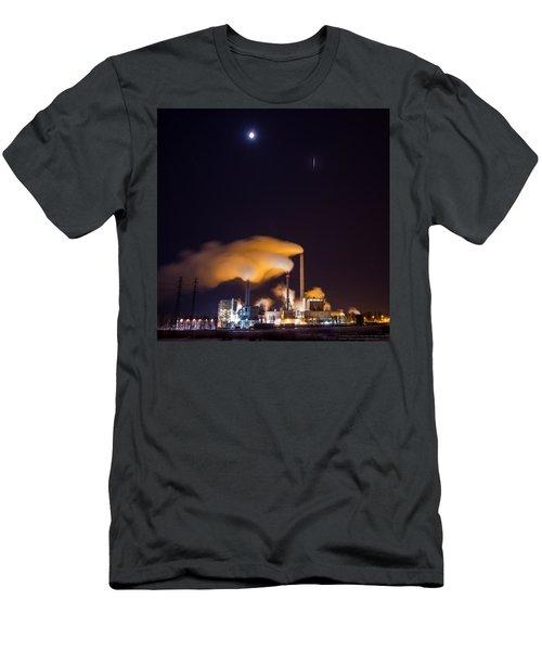 Iridium 53 Flaring Over Suomenoja Power Plant Men's T-Shirt (Athletic Fit)