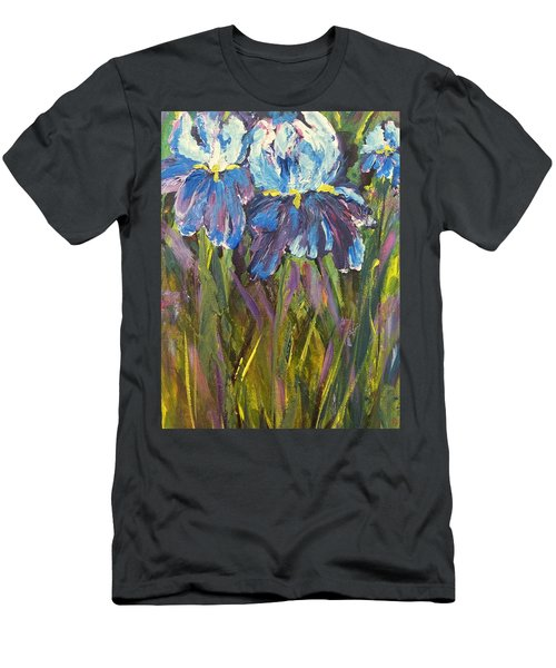 Iris Floral Garden Men's T-Shirt (Athletic Fit)