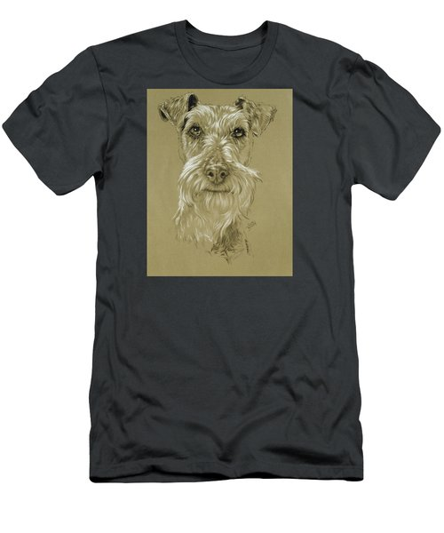 Irish Terrier Men's T-Shirt (Slim Fit) by Barbara Keith