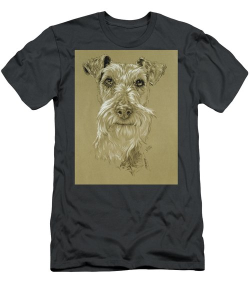 Men's T-Shirt (Athletic Fit) featuring the drawing Irish Terrier by Barbara Keith