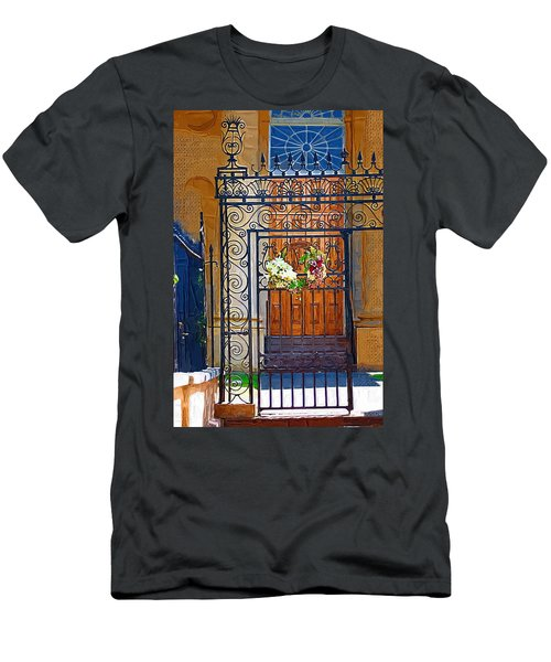 Men's T-Shirt (Slim Fit) featuring the photograph Iron Gate by Donna Bentley