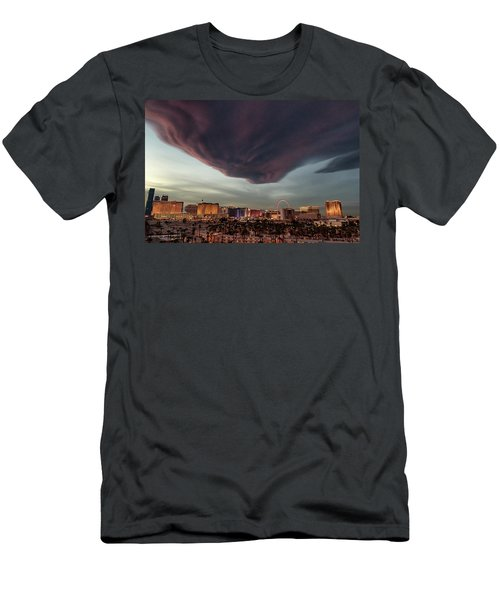 Men's T-Shirt (Slim Fit) featuring the photograph Iron Maiden Las Vegas by Michael Rogers