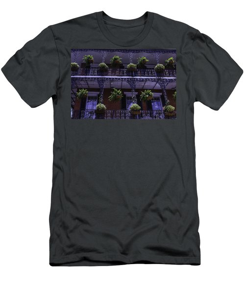 Iron Railings And Plants Men's T-Shirt (Athletic Fit)