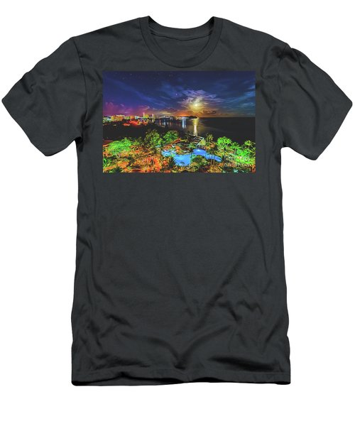 Men's T-Shirt (Athletic Fit) featuring the digital art Island Dream by Ray Shiu