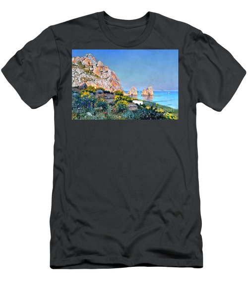 Island Of Capri - Gulf Of Naples Men's T-Shirt (Athletic Fit)