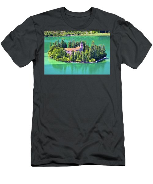 Island Of Visovac Monastery In Krka  Men's T-Shirt (Slim Fit) by Brch Photography