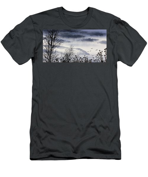 Men's T-Shirt (Slim Fit) featuring the painting Island Solitude by James Williamson