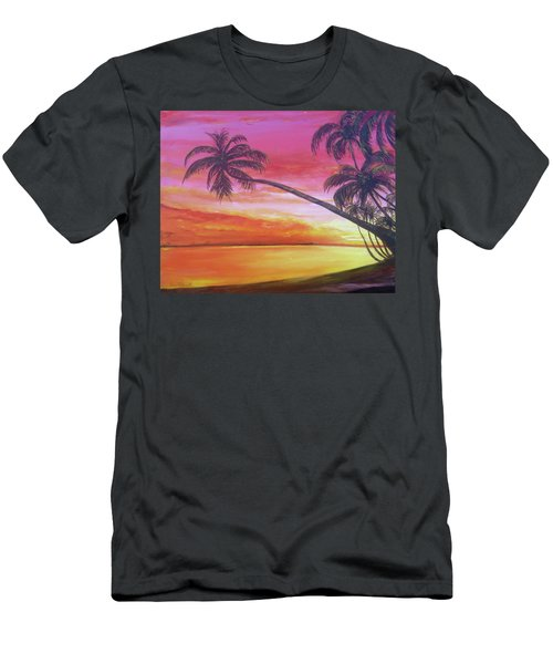 Island Sunrise Men's T-Shirt (Athletic Fit)