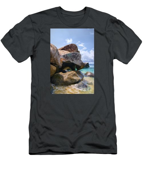 Island Virgin Gorda The Baths Men's T-Shirt (Athletic Fit)