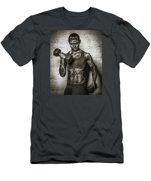 Isometrics  Men's T-Shirt (Slim Fit) by Scott Meyer